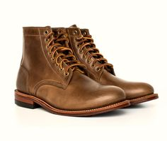 THE TRENCH BOOT  THE FIRST BOOT BUILT ON OUR ALL-NEW ELSTON LAST  DESIGNED IN CHICAGO. MADE IN NEW YORK by Oak Street Bootmakers.