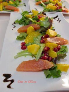 Salade de saumon fumé aux fruits frais : Diet & Délices - Recettes dietétiques