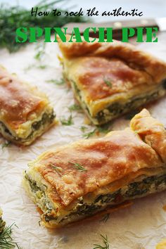 The real traditional greek spinach pie Recipes greek food Pie Recipes, Mexican Food Recipes, Cooking Recipes, Healthy Recipes, Spinach Recipes, Healthy Food, Amish Recipes, Meatloaf Recipes, Phyllo Dough Recipes