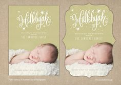 Birth Announcement Christmas Photo Card / by PrincessPearlPaperie, $18.00