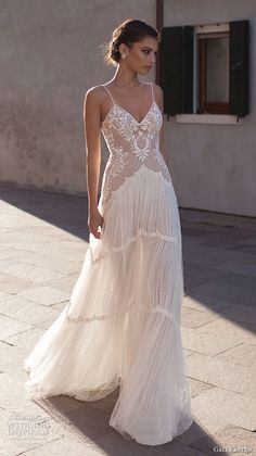 Gali Karten Wedding Dresses 2018 - Burano Bridal Collection features exquisite gowns in a plethora of gorgeous silhouettes. Boho Chic Wedding Dress, Perfect Wedding Dress, Boho Dress, Wedding Dresses 2018, Bridal Dresses, Boho Bride, Bridal Collection, Vintage Dresses, American Women