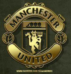 Golden Manchester Utd Badge Manchester United Logo Manchester United Players Manchester United Fans