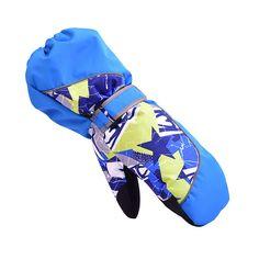 NEW Winter Children Winter Gloves Skiing Boys Girls Sports Snow Windproof Waterproof Gloves Wrist Extended Skiing Gloves