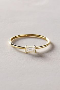 Shop the Baguette Diamond Ring in 14k Yellow Gold and more Anthropologie at Anthropologie today. Read customer reviews, discover product details and more.