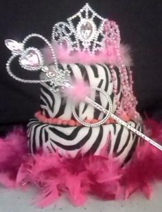 Zebra And Hot Pink Birthday Cakes