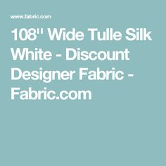 108 wide tulle silk white home decor fabricdiscount designerfabricskaftan - Discount Designer Home Decor
