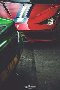 Ferrari 458 Aperta A and McLaren 650S