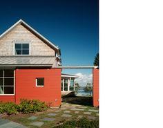 vibrant orange home