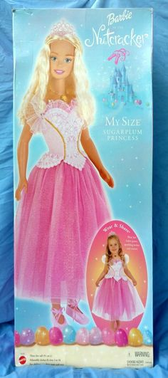 "2001 My Size Barbie Sugarplum Princess Nutcracker 2001 NEW IN SEALED BOX 38"""