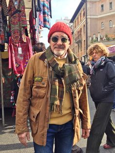 "neoretrostreetstyle: "" Good combinaison colors with classic barbour international & Fun Cousteau Hat, Rome! Barbour Mens, Barbour Jacket, Style Brut, Men's Style, Mens Fashion Winter Coats, American Casual, Smart Casual Men, Interview, Denim And Supply"