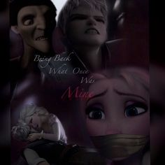 Jelsa tangled! I can see this happening! But probably Pitch would be taking power from Elsa not to mention as she gets older maybe lusts for Elsa and will kill Jack in order to make her his. I could see this happen in a fanfiction somewhere.