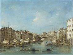 Francesco Guardi, Venice: the Grand Canal with the Riva del Vin and the Rialto Bridge, c.1770 (P508)