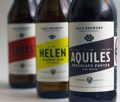 Packaging and identity for Monterrey, Mexico's Cale Brewery. Beer Packaging, Brand Packaging, Malta, Craft Beer Brands, Beer Label Design, Beers Of The World, Beer Art, Natural Preservatives, Best Beer