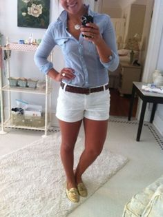Girls Women's Preppy Shorts Outfits 04 #outfit #style #fashion