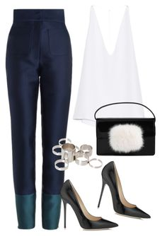 """""""Sans titre #2171"""" by christina95styles ❤ liked on Polyvore featuring Zimmermann, Jimmy Choo, Cushnie Et Ochs, Yves Saint Laurent and ASOS"""