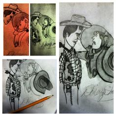 My toy story sketches! I'm obsessed with toy story!