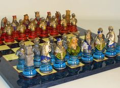 Chess sets from The Chess Piece chess set store: Camelot Busts chess set, Themed Chess Sets