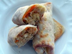 Baked Chicken and Vegetable Egg Rolls - Once A Month Meals - Freezer Meals - Freezer Cooking - OAMC