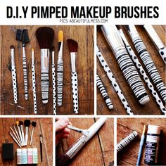 DIY makeup brushes, paint and design the brush handles to look cute.