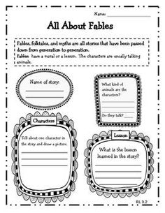 Reading Literature Graphic Organizers for 3rd Grade $