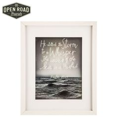 Psalm 107:29 Framed Wall Decor⎜Open Road Brands Frames On Wall, Framed Wall, Wall Art, Wall Decor Online, Nautical Home, Hush Hush, Cute Quotes, Home Collections, Hobby Lobby