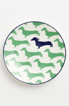 kate spade new york 'wickford - dachshund' tidbit plates (set of 4) | Nordstrom