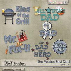 The World's Best Dad Word Arts