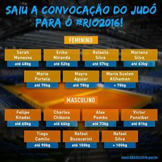 Saiu a convocação oficial da Seleção Brasileira de Judô para os Jogos #Rio2016. Confira a lista de guerreiros que vão em busca do OURO em casa com a força da torcida! \o/ #VaiBrasil  #timebrasil fb.com/avidaquer  #agentenaoquersocomida #avidaquer @avidaquer por @samegui