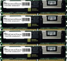16GB (4X4GB) DDR2 667MHz NEMIXRAM Certified Memory for Compaq HP ProLiant ML370 G5 PC2-5300 FBDIMM ECC 240Pin 1.8V DDR2 667MHz PC2-5300. BRAND NEW! **LIFETIME WARRANTY** **SAME DAY SHIPPING**. 1.8 Volts *** ECC Fully Buffered Memory *** 240 PIN FBDIMM *** High Grade heat Shield. 100% Compatible with Servers that takes 4GB DDR2 667MHz PC2-5300 Memory. Major Brand like Samsung Micron Hynix Kingston Elpida.