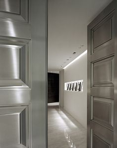 All about the lighted recessed art niche. Beach Residence. Lighting designed by Uli and friends, Inc., Miami.