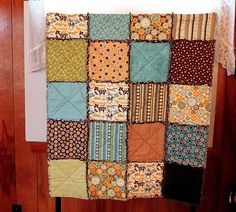 Rag Quilt Baby Boy Mod Tod by Tinkerspleasures on Etsy