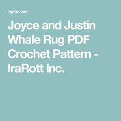 Joyce and Justin Whale Rug PDF Crochet Pattern  - IraRott Inc.