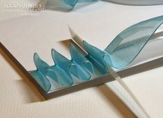 Scrapbooker's Paradise Blog: Technique Tuesday - Perfectly Pleated Ribbon. This is so me......
