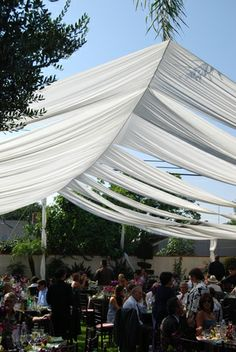 make a tent ceiling | Posted in decor , any event , wedding | 3 Comments »