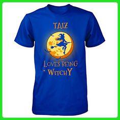 Taiz Loves Being Witchy. Halloween Gift - Unisex Tshirt Royal S - Holiday and seasonal shirts (*Amazon Partner-Link)