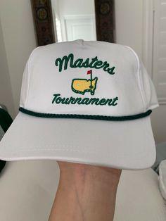 97cf016dfdde9 MASTERS GOLF TOURNAMENT WHITE TRUCKER RETRO ROPE HAT NEW MENS SNAPBACK 2019   fashion  clothing