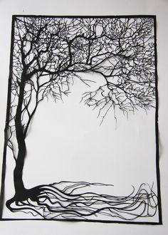 Papercuts-cutouts-handcuts--tree. $88.00, via Etsy.