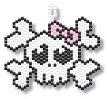 Girly Skull by Megan's Beaded Designs