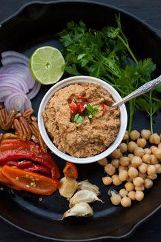 Vegan Roasted Bell Pepper +Chickpea + Pecans Spread