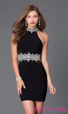 Short High Neck Homecoming Dress 1336 at PromGirl.com  CD-1336
