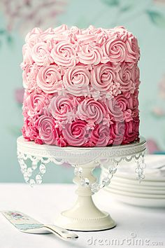 Pink ombre cake by Ruth Black, via Dreamstime