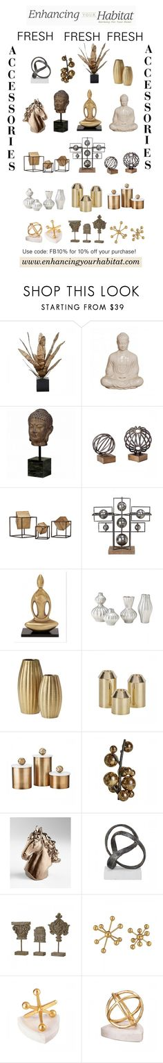 """Enhancing Your Habitat - FRESH Accessories"" by sierraday ❤ liked on Polyvore featuring interior, interiors, interior design, home, home decor, interior decorating, Home and interiordesign"
