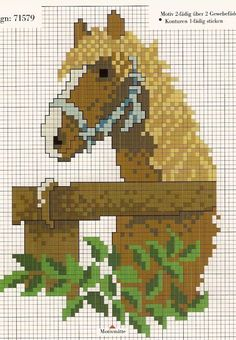 Ponto cruz: cavalos ponto cruz
