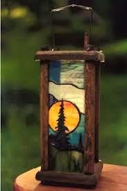 stained glass lamp... outdoors