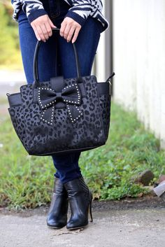 Sincerely Yours Bow Tote - Leopard {Betsey Johnson}