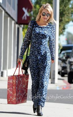 Emma Roberts update. Emma Roberts wearing Charles Henry Country Floral Maxi Dress does some...