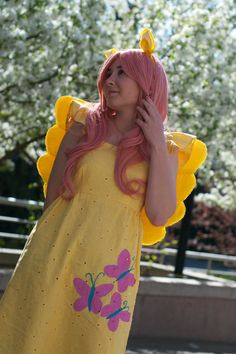 My Little Pony Fluttershy Cosplay Dress by ElliesCostumes on Etsy, $90.00 Cosplay Dress, Cosplay Costumes, Fluttershy, Mlp, My Little Pony Dress, Halloween 2014, People Dress, Equestria Girls, Party Themes