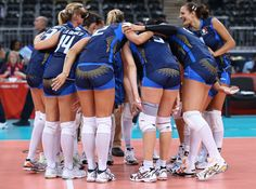Team Italy celebrated their win against Japan at the Women's Volleyball Preliminary match on July 30th at the London 2012 Olympics. We can't help but notice the graphic designs on their shorts designed by Asics. Cute! Source: Elsa/Getty Images Europe