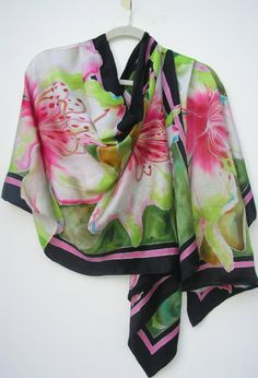 RESVD FOR JEANNIE  trop. azaleas by SilkSiren on Etsy