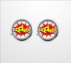 Cufflinks+Pow++cufflinks+Mens+Gift+vintage++Charm+by+etnecklace,+$16.99